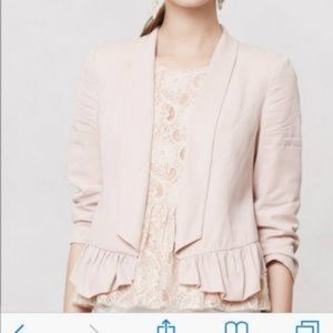 Anthropologie Cartonnier open Blazer